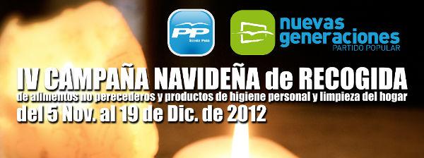 IV Campaña Navideña de recogida de alimentos no perecederos y productos de higiene personal y limpieza del hogar.