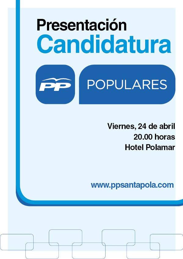 PRESENTACIÓN DE LA CANDIDATURA PARTIDO POPULAR SANTA POLA