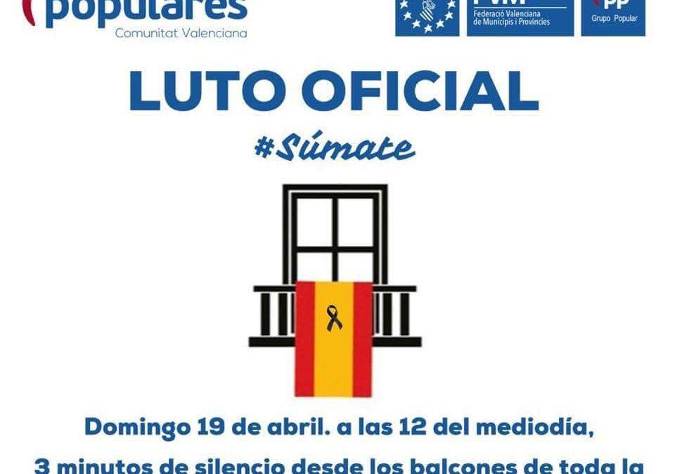 Luto oficial Comunidad Valenciana por los fallecidos por el#Covid_19