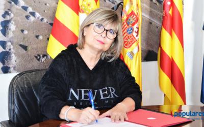 La Alcaldesa de Santa Pola, Loreto Serrano se adhiere a la propuesta presentada por el Partido Popular de la provincia de Alicante