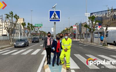 Se mejora la señalización de los pasos de peatones en la Avenida de Elche